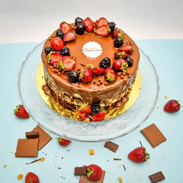 Торта с маскарпоне и нутела