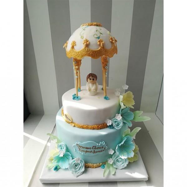 Торта Ангелче и цветя