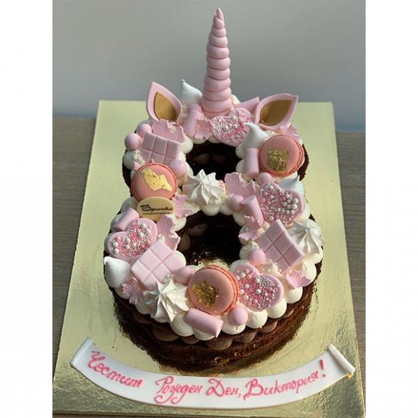 Торта Еднорог в розово