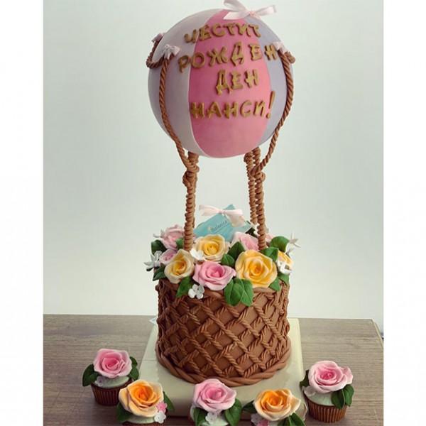 Торта Балон с Цветя