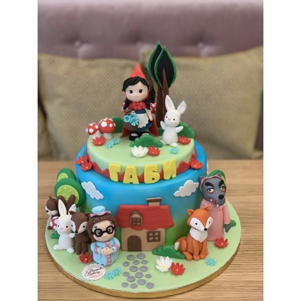 Торта Червената Шапцица - Торти за момичета