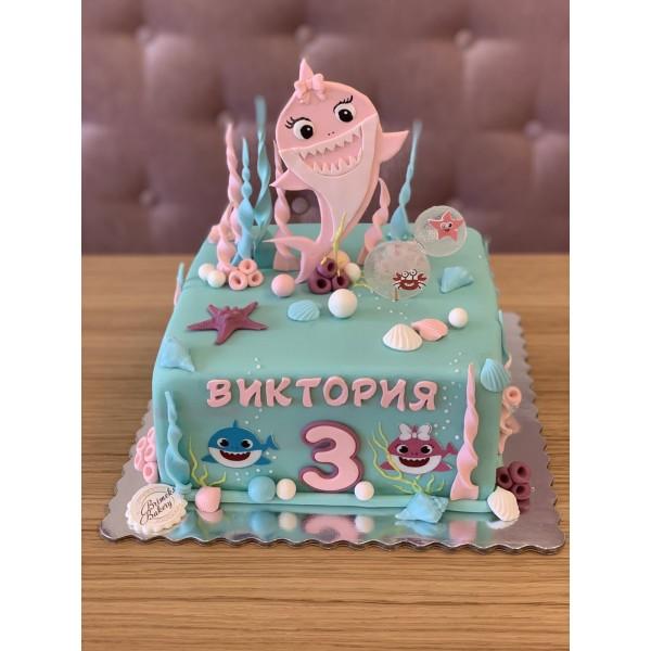 Торта Baby Shark 2 - Торти за момичета