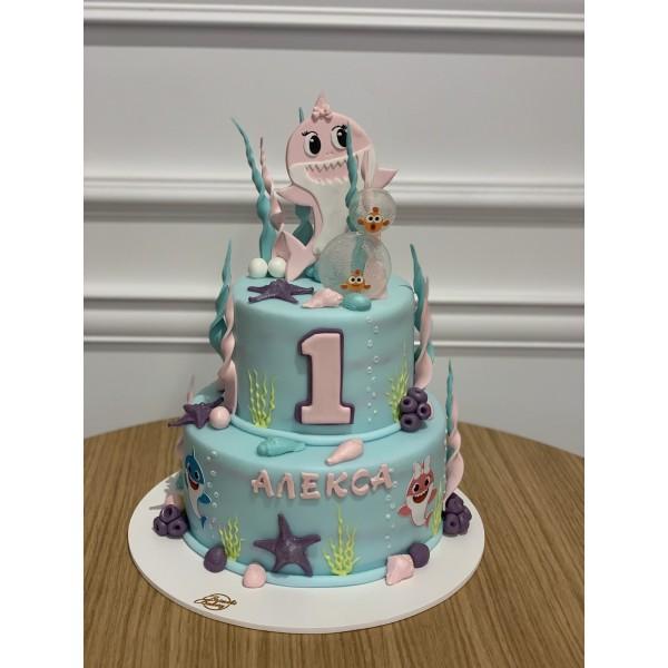 Торта Baby Shark 3 - Торти за момичета