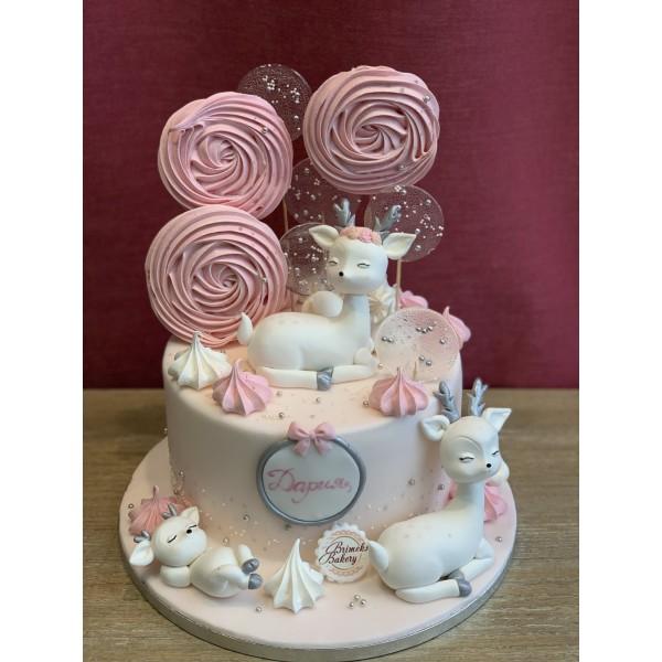 Торта Сърничка и близалки - Торти за момичета