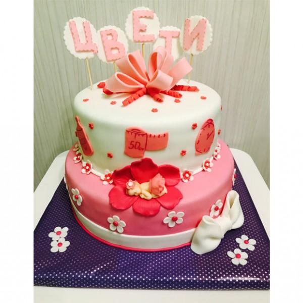 Торта Baby girl cake